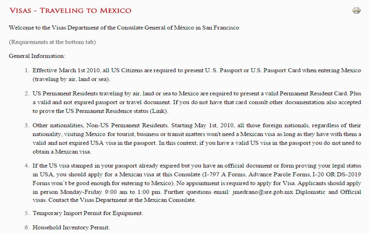 All Those Foreign Nationals Regardless Of Their Nationality Visiting Mexico For Tourist Business Or Transit Matters Wont Need A Mexican Visa As Long