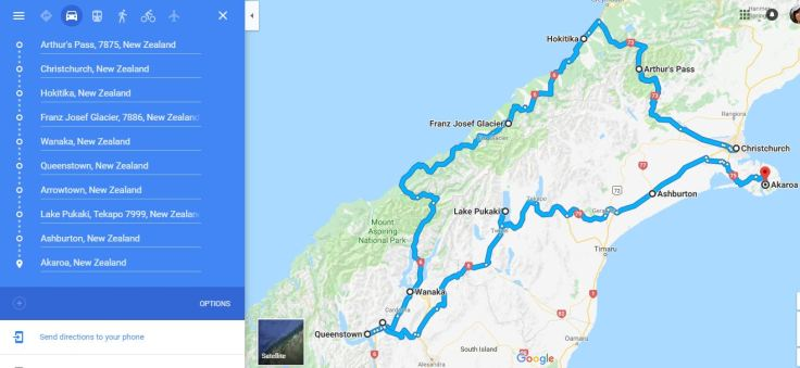 South NZ Route